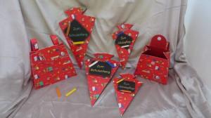 Karten und Geschenkboxen zur Einschulung