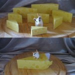 Käseecke als Geschenkverpackung