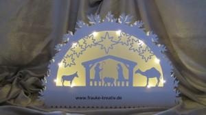 Schwibbogen mit LED Beleuchtung - Licht an